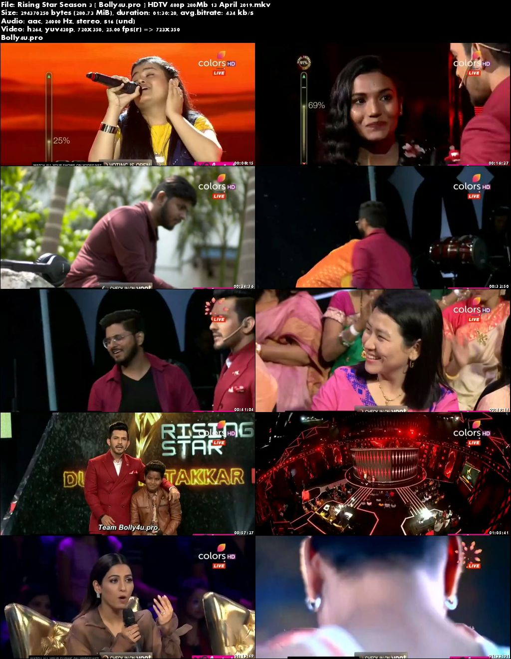 Rising Star Season 3 HDTV 480p 280Mb 13 April 2019 Download
