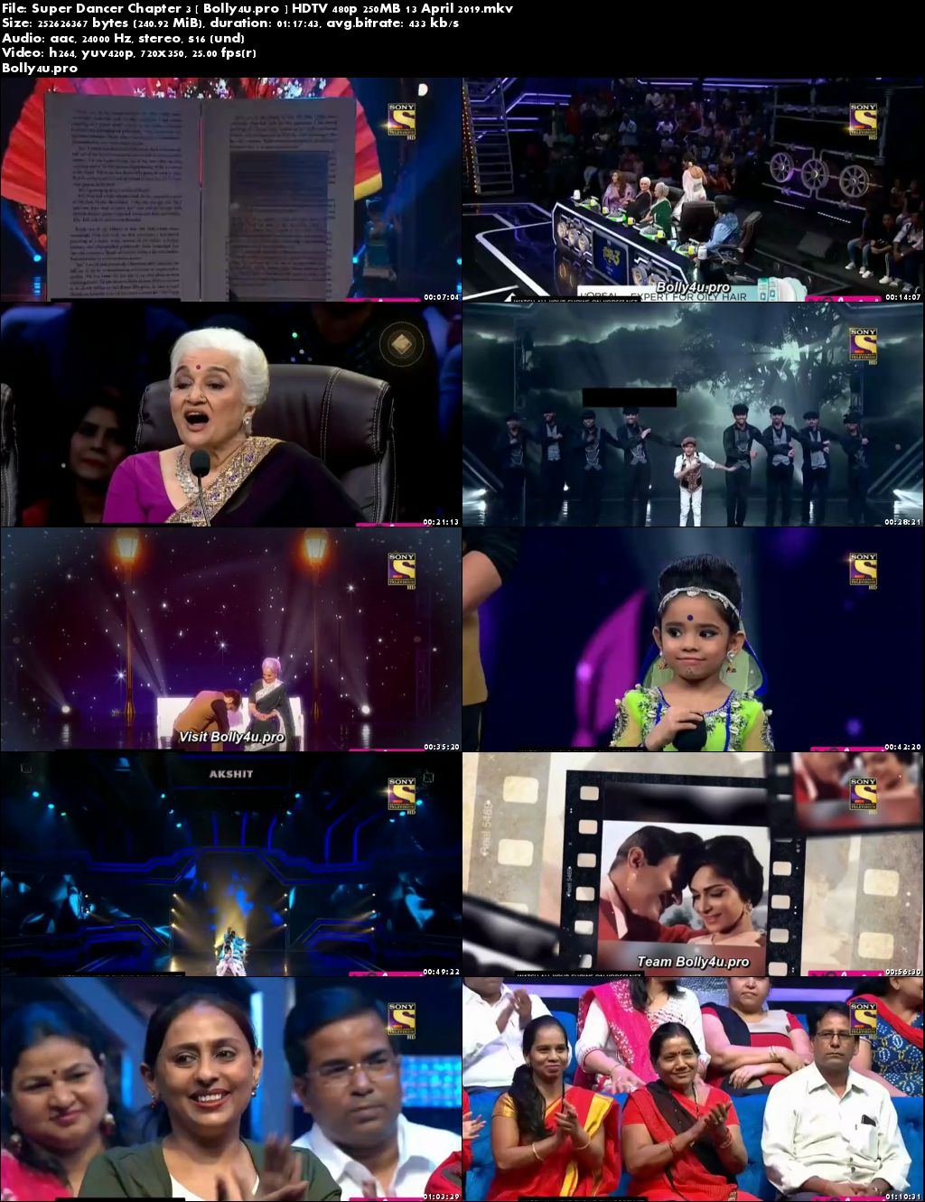 Super Dancer Chapter 3 HDTV 480p 250MB 13 April 2019 Download