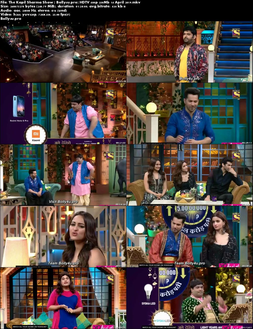 The Kapil Sharma Show HDTV 480p 250Mb 14 April 2019 Download