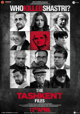 The Tashkent Files 2019 Pre DVDRip 350MB Hindi 480p