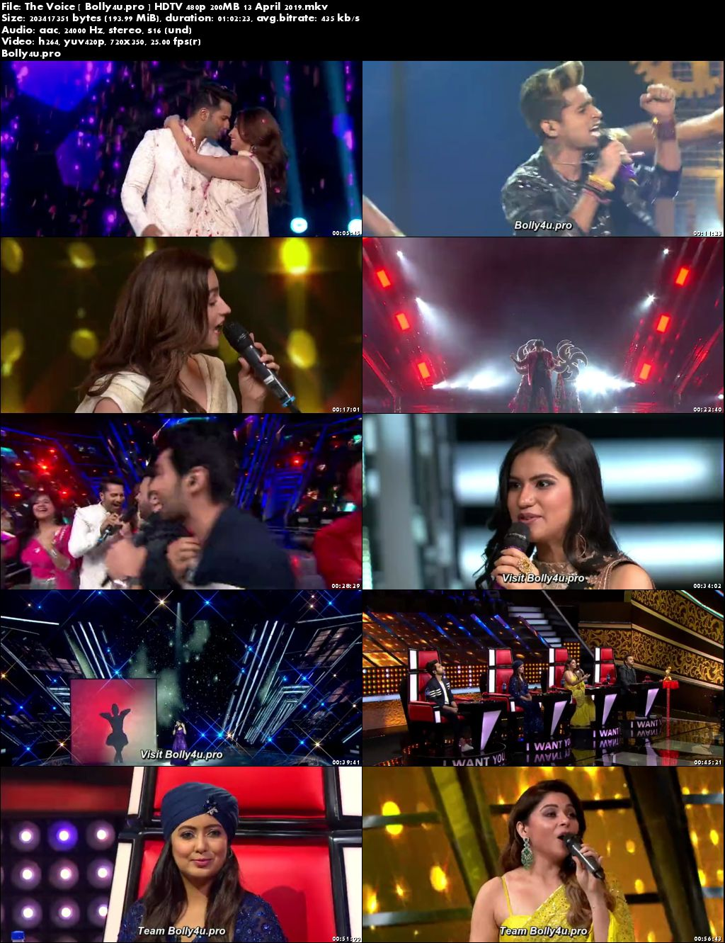 The Voice HDTV 480p 200MB 13 April 2019 Download