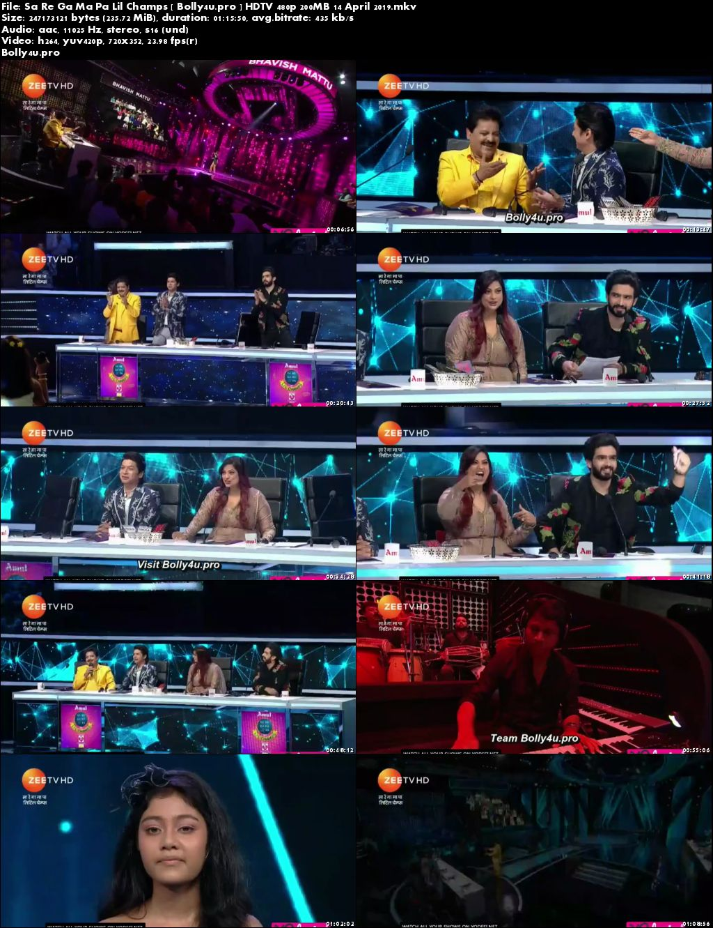 Sa Re Ga Ma Pa Lil Champs HDTV 480p 200MB 14 April 2019 Download