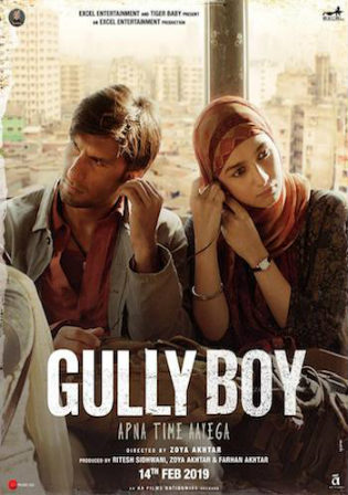 Gully Boy 2019 HDRip 450MB Hindi Movie 480p ESub
