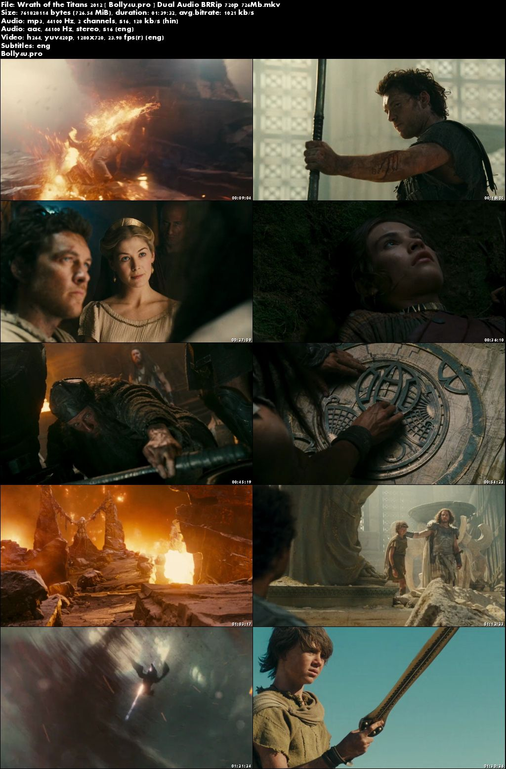 Wrath of the Titans 2012 BRRip 700MB Hindi Dual Audio 720p ESub Download