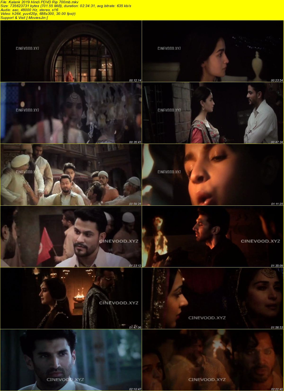 Watch Online Kalank 2019 Full Movie Pre DvDRip x264 700MB Full Movie Download 300mbMovies 9xmovies 8xfilms 7srarhd downloadhub