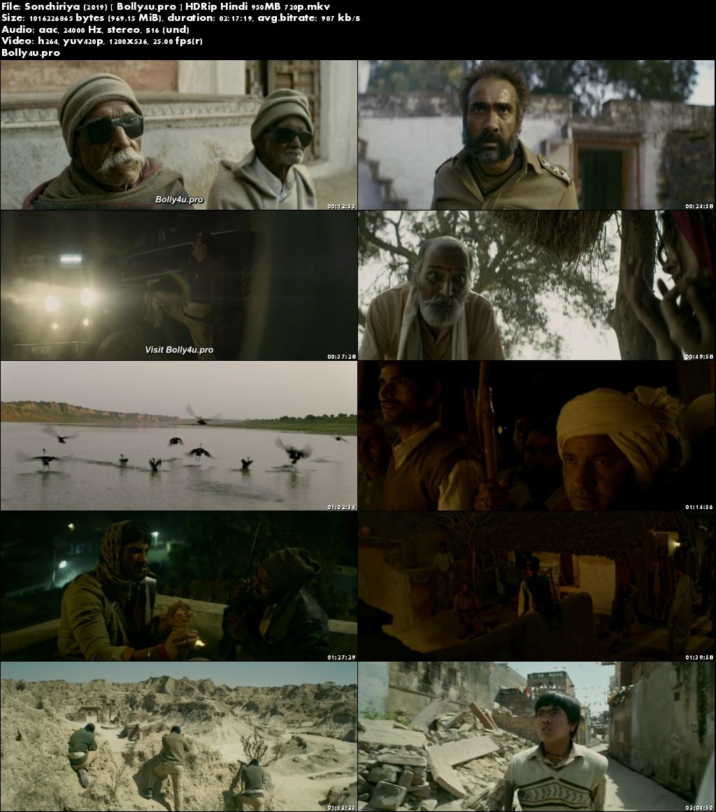 Sonchiriya 2019 HDRip 950Mb Full Hindi Movie Download 720p