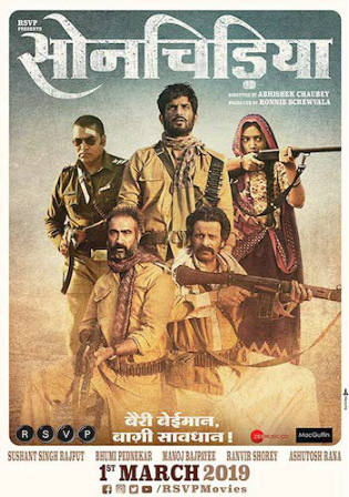 Sonchiriya 2019 HDRip 950Mb Full Hindi Movie Download 720p Watch Online Free bolly4u