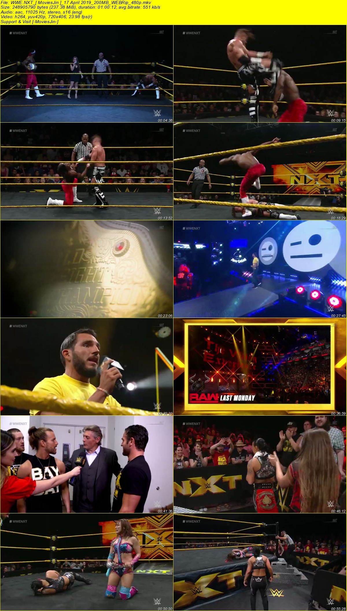 Watch Online WWE NXT Download 17 April 2019 200MB WEBRip 480p Full Download 300mbMovies 9xmovies 8xfilms 7srarhd downloadhub