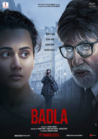Badla 2019 HDRip 350Mb Full Hindi Movie Download 480p