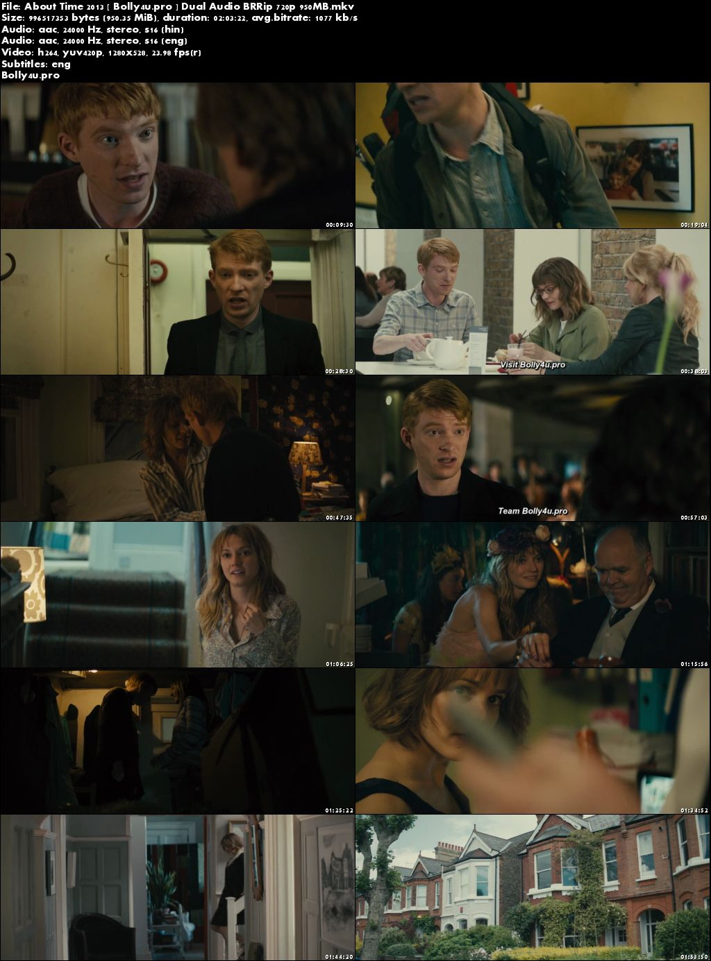 About Time 2013 BRRip 350MB Hindi Dual Audio 480p Download