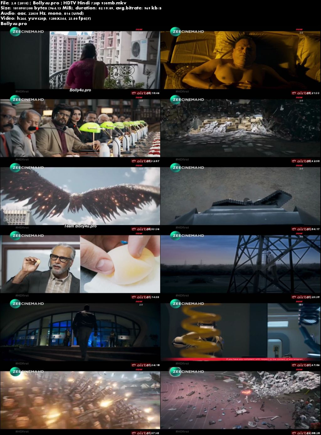 2.0 (2018) HDTV 950MB Full Hindi Movie Download 720p