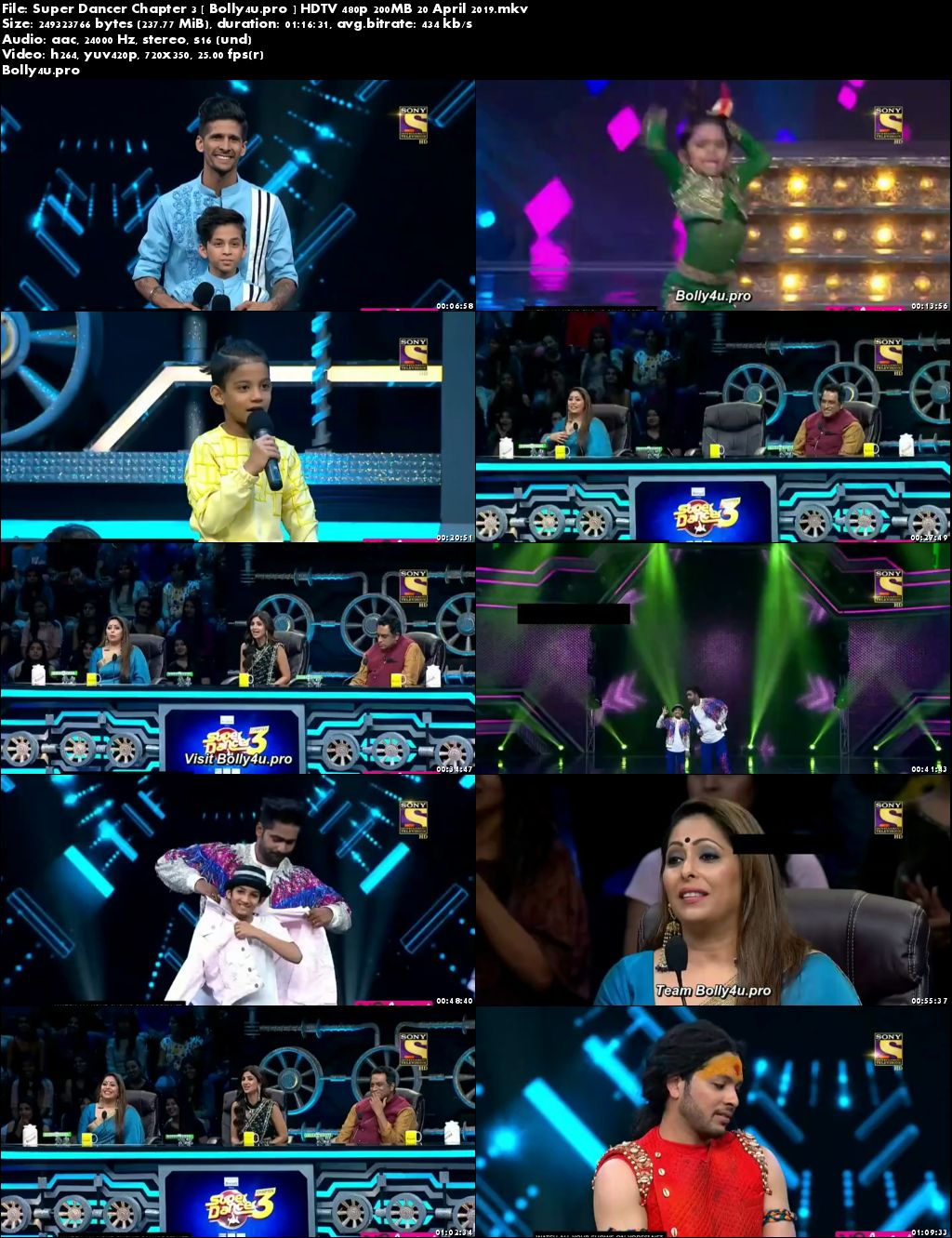 Super Dancer Chapter 3 HDTV 480p 200MB 20 April 2019 Download