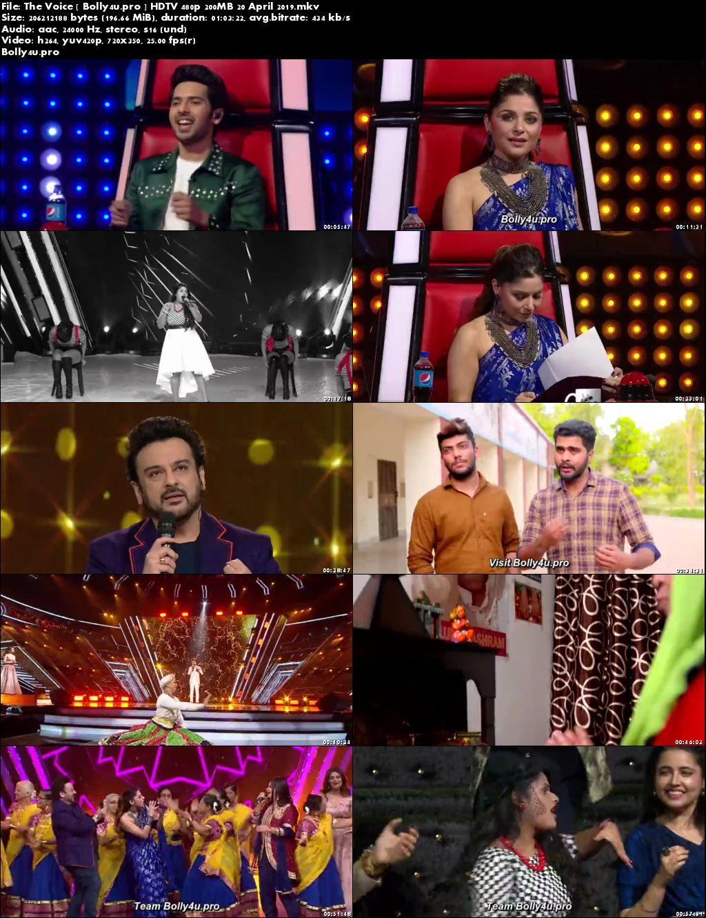 The Voice HDTV 480p 200MB 20 April 2019 Download