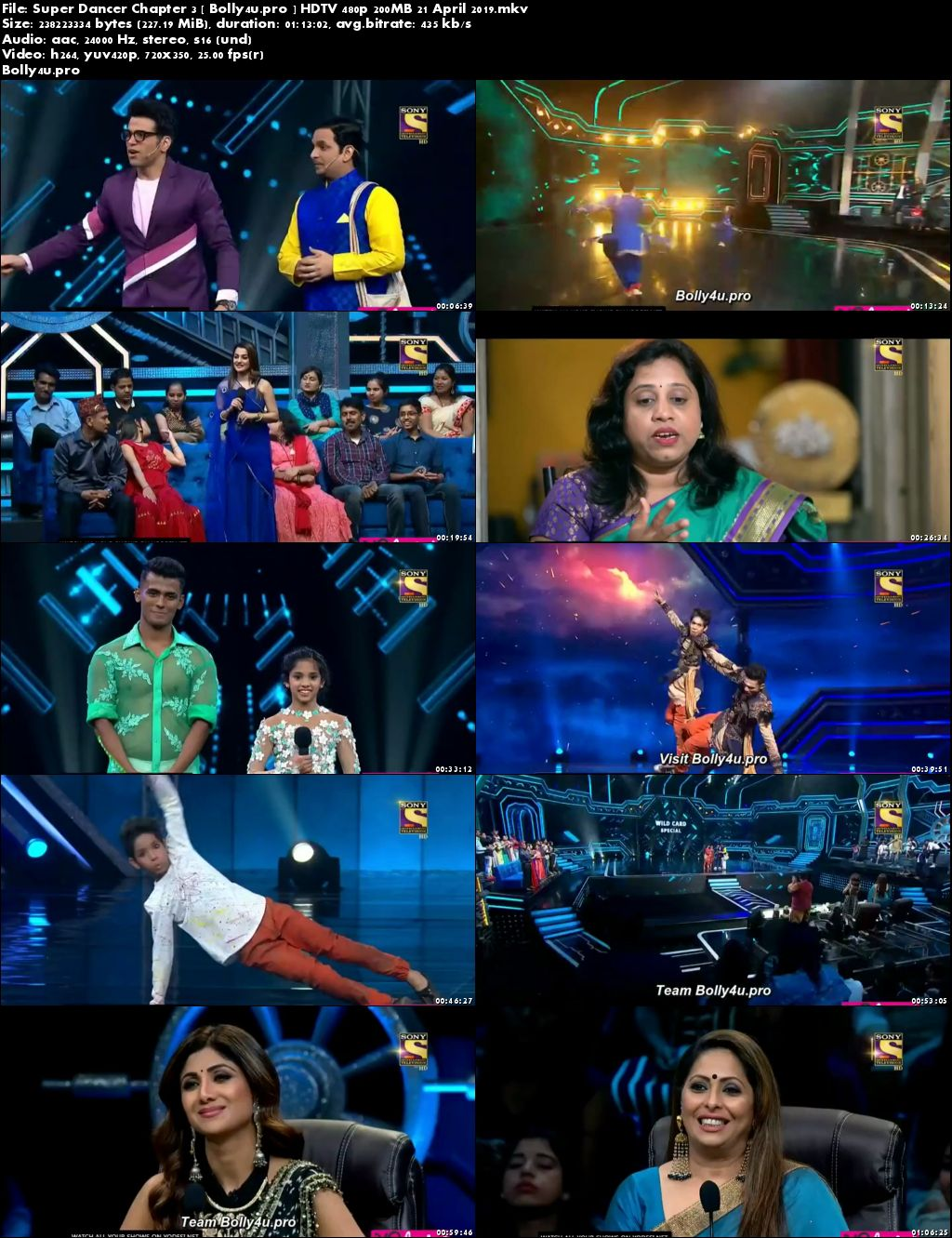 Super Dancer Chapter 3 HDTV 480p 200MB 21 April 2019 Download