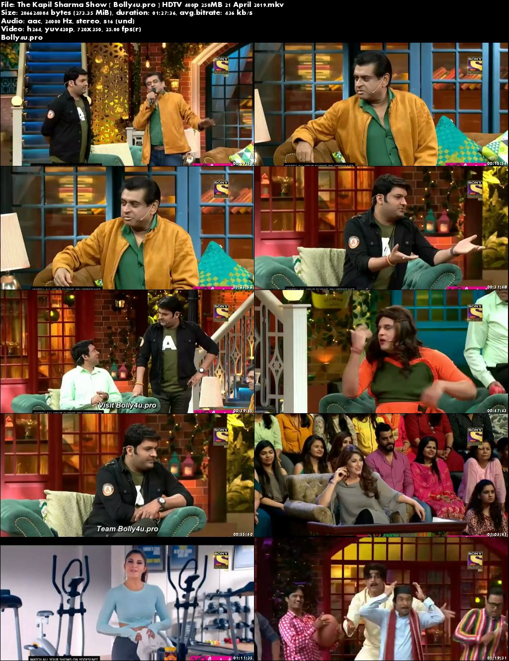 The Kapil Sharma Show HDTV 480p 250MB 21 April 2019 Download