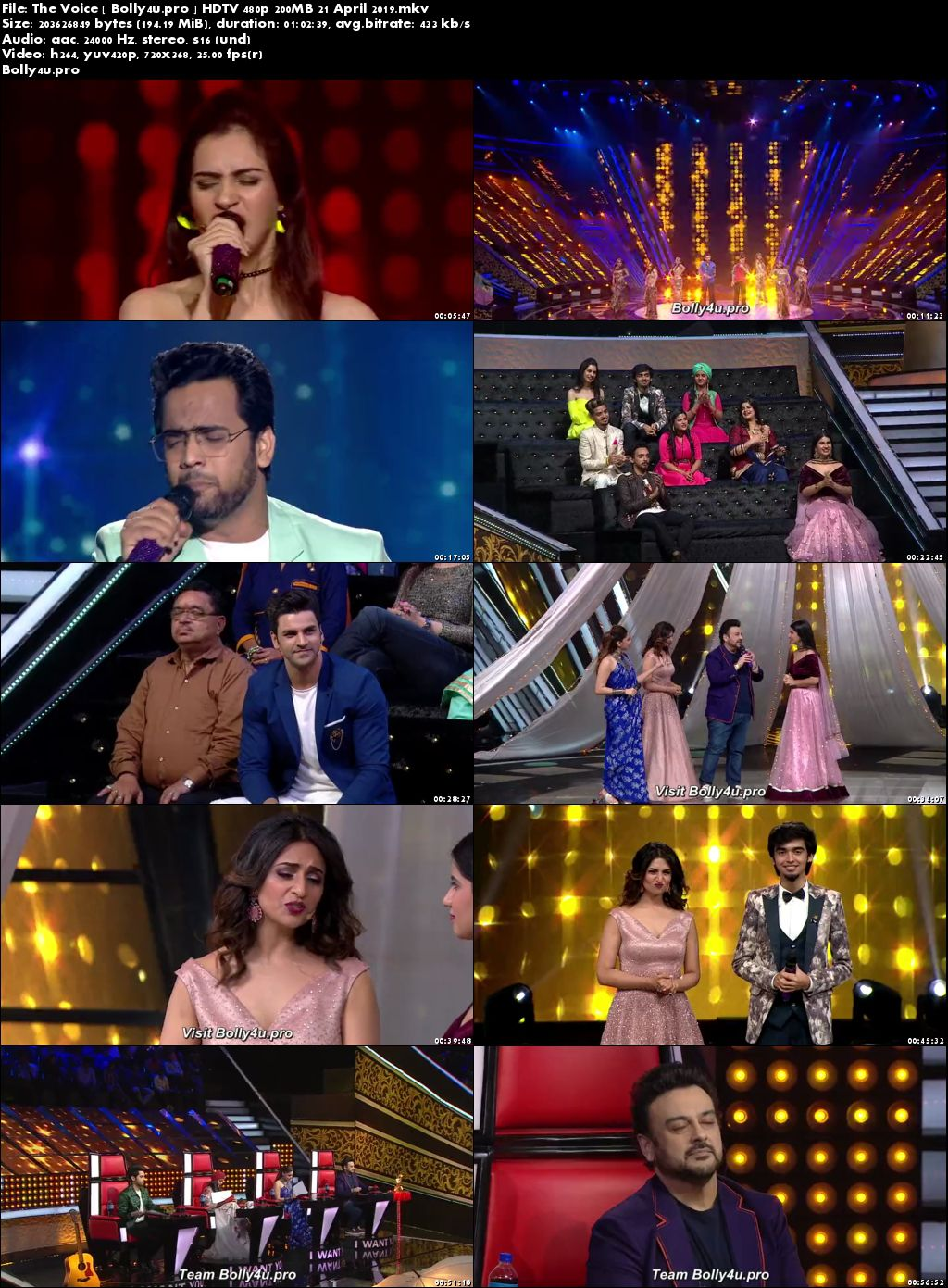 The Voice HDTV 480p 200MB 21 April 2019 Download