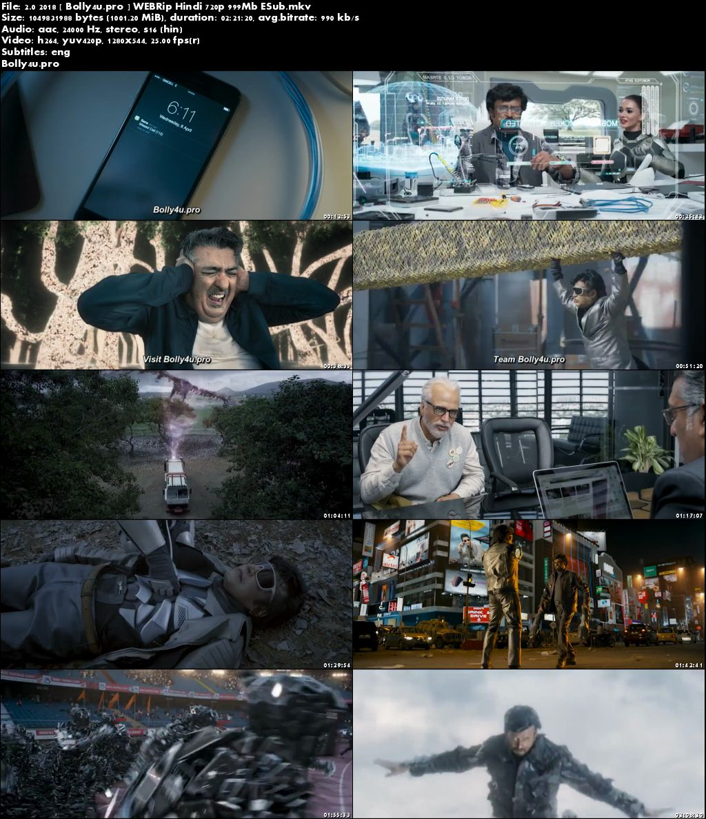 2.0 2018 WEBRip 999MB Hindi ORG 720p ESub Download