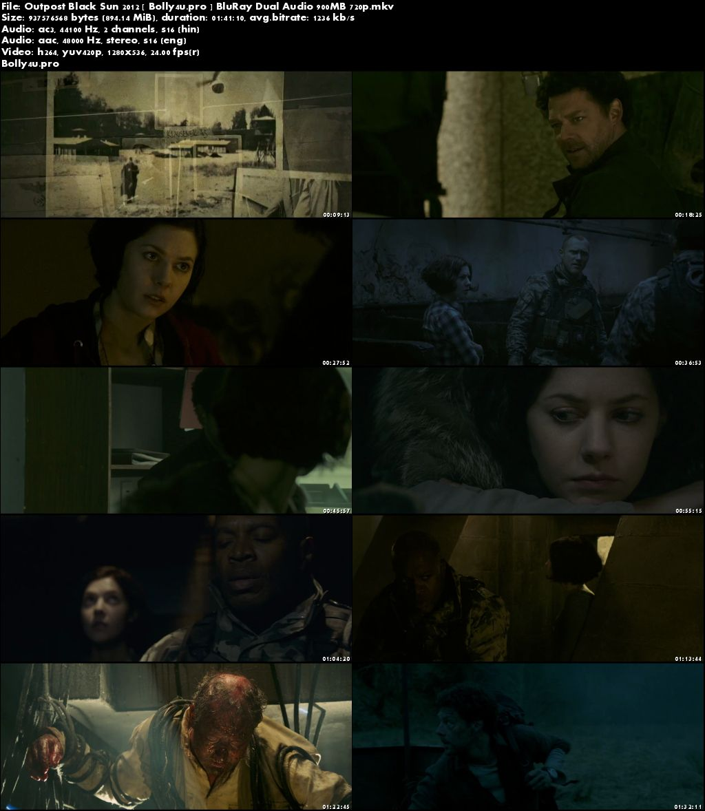 Outpost Black Sun 2012 BluRay 350Mb Hindi Dual Audio 480p Download