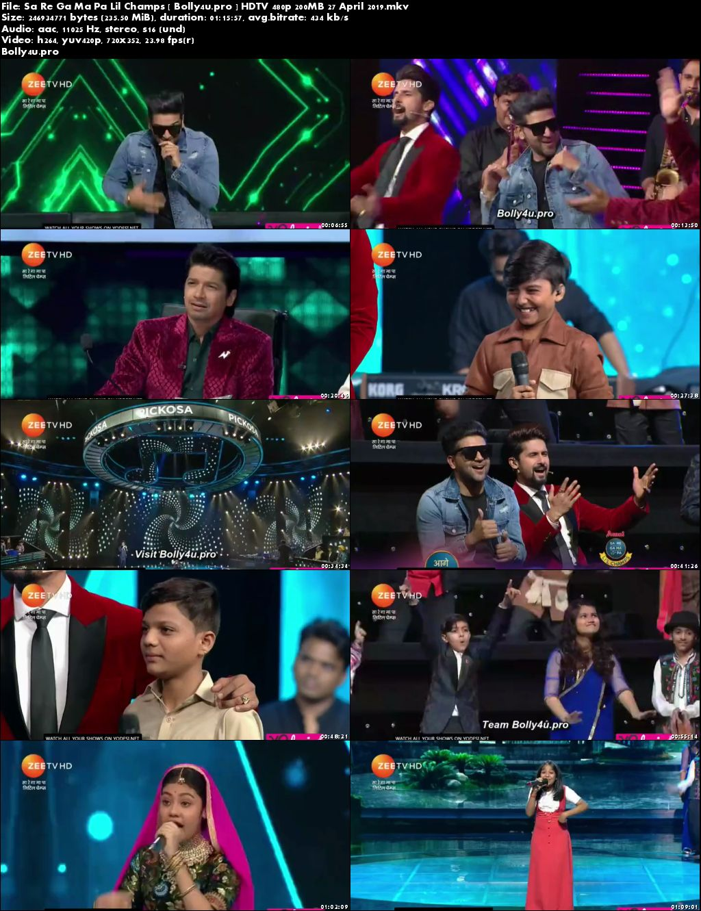 Sa Re Ga Ma Pa Lil Champs HDTV 480p 200MB 27 April 2019 Download