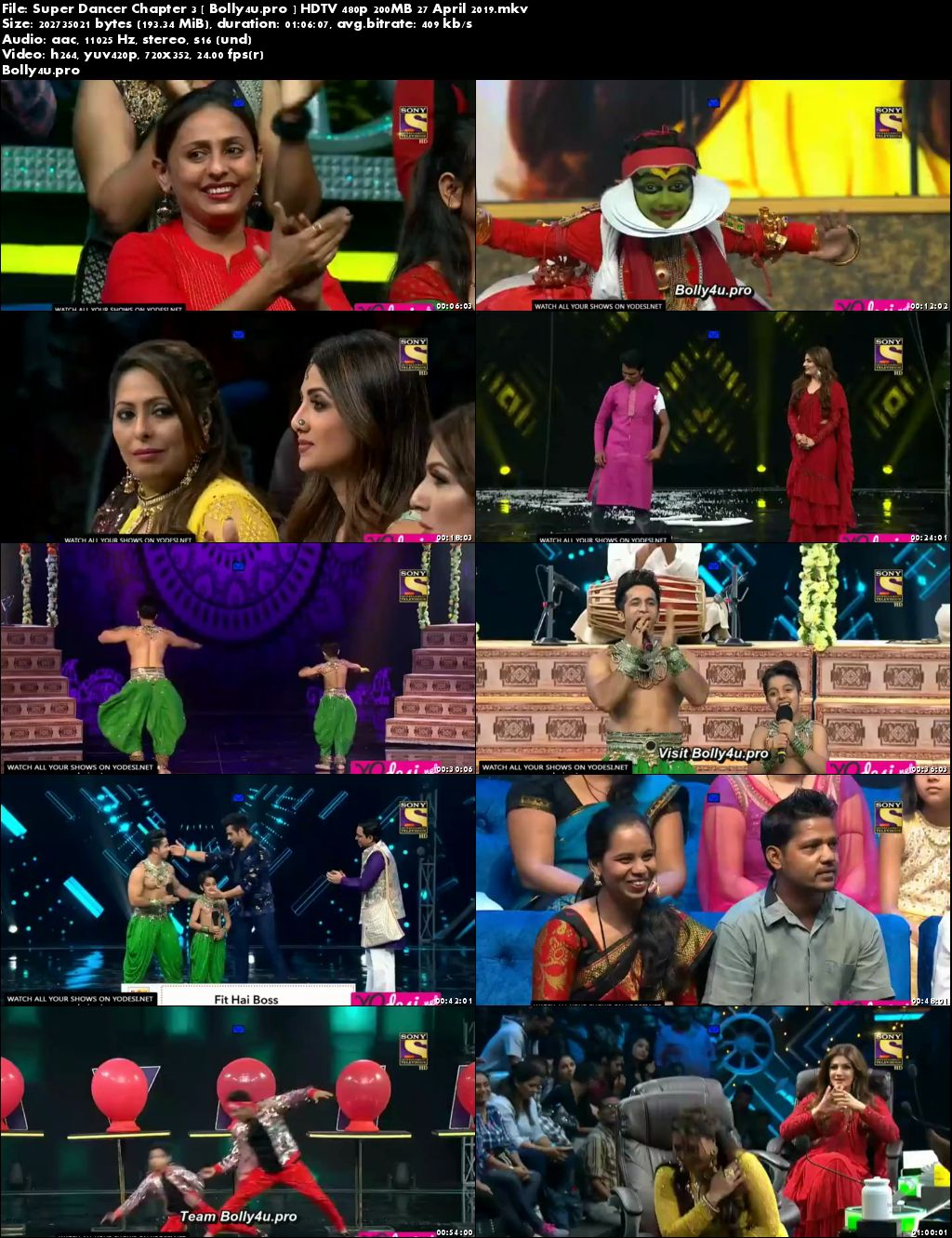 Super Dancer Chapter 3 HDTV 480p 200MB 27 April 2019 Download
