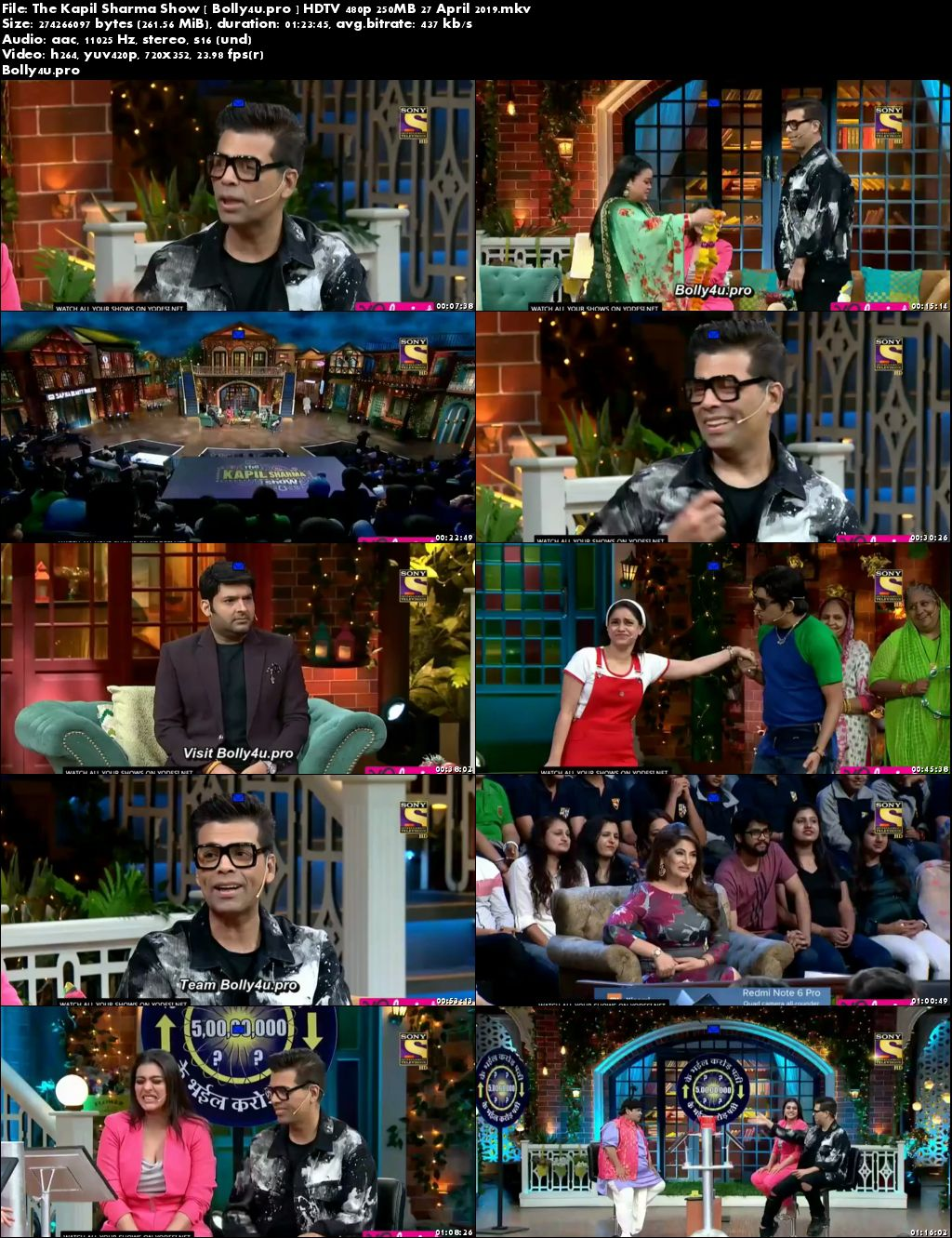 The Kapil Sharma Show HDTV 480p 250MB 27 April 2019 Download