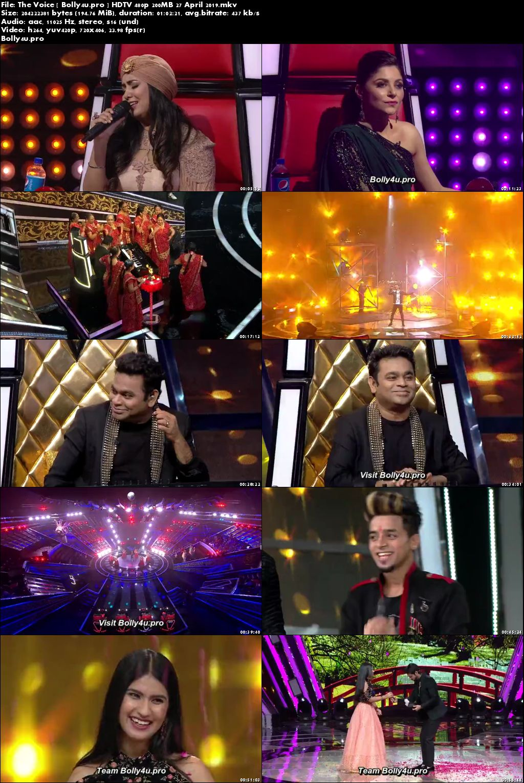The Voice HDTV 480p 200MB 27 April 2019 Download