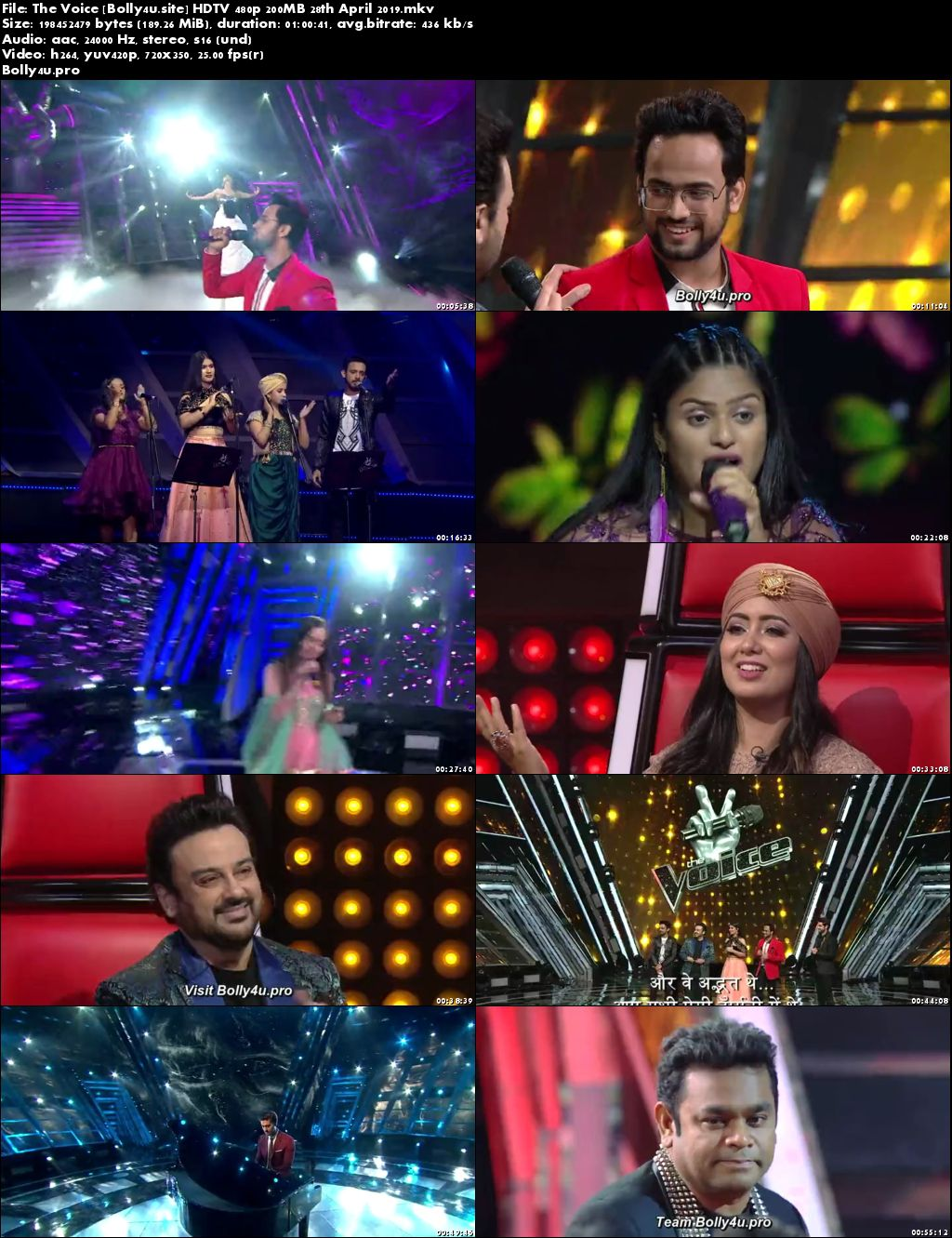 The Voice HDTV 480p 200MB 28 April 2019 Download