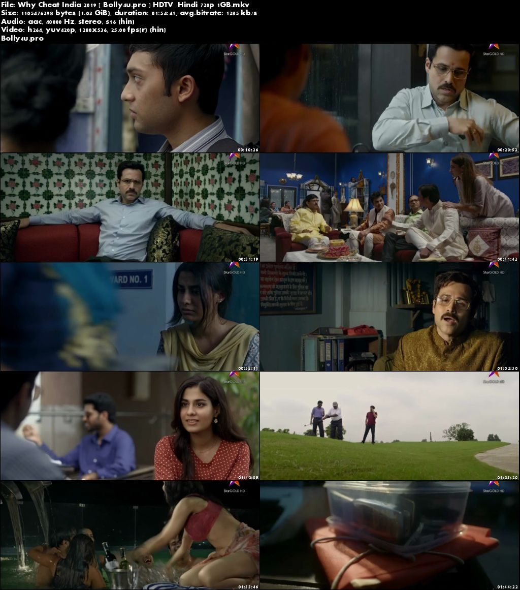 Why Cheat India 2019 HDTV 1GB Hindi 720p Download