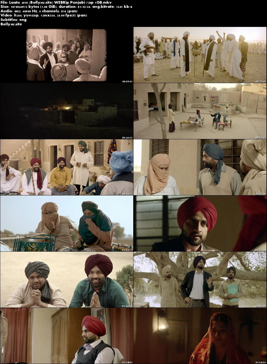 Laatu 2018 WEBRip 1GB Punjabi 720p ESub Download
