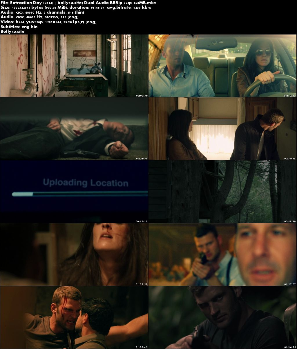 Extraction Day 2014 BRRip 950MB Hindi Dual Audio 720p ESub Download