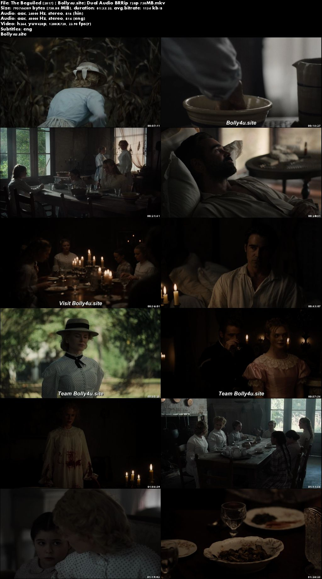 The Beguiled 2017 BRRip 300Mb Hindi Dual Audio 480p ESub Download