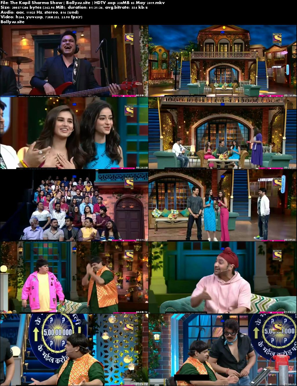The Kapil Sharma Show HDTV 480p 350MB 05 May 2019 Download