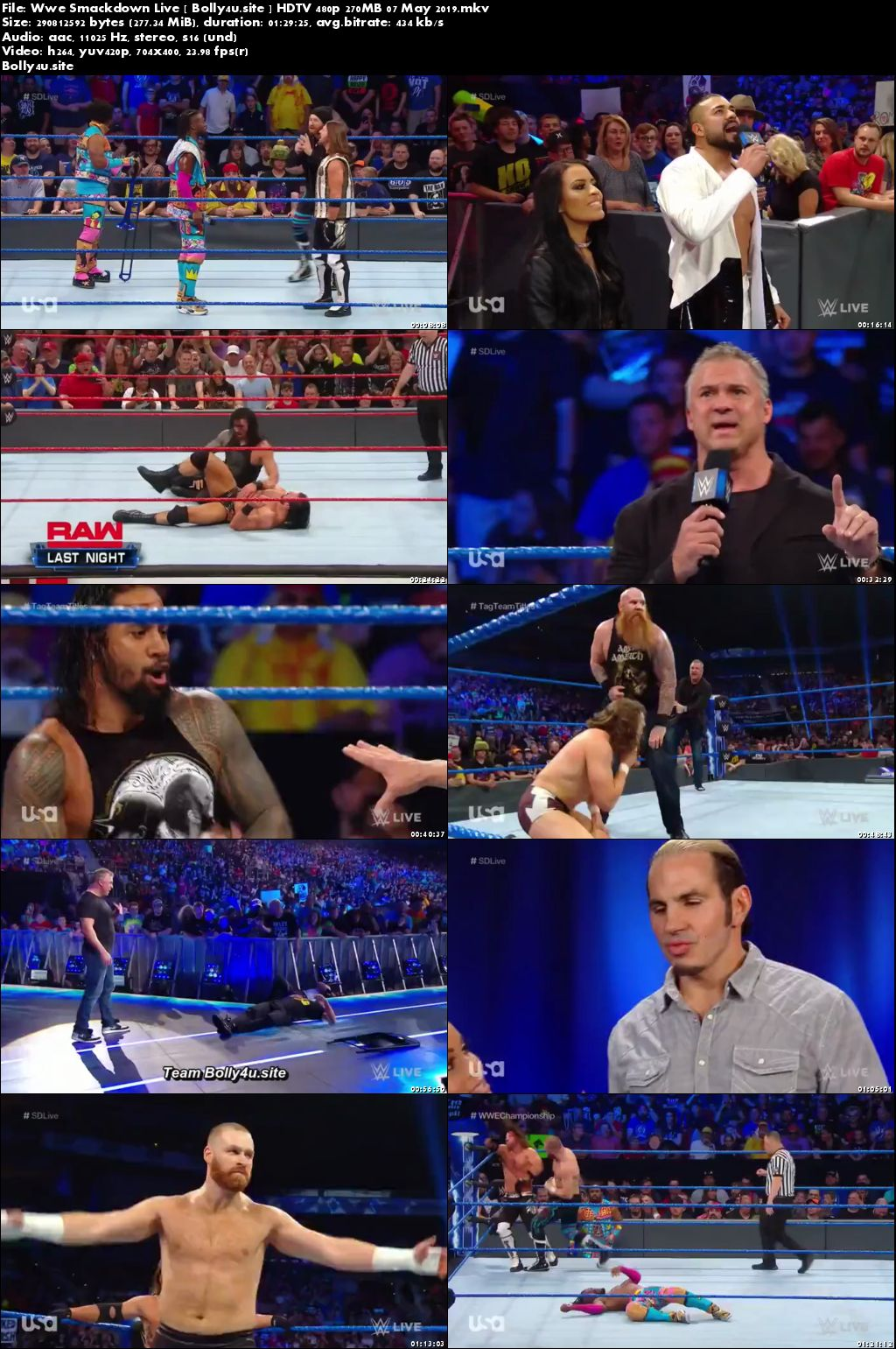 Wwe Smackdown Live HDTV 480p 270MB 07 May 2019 Download