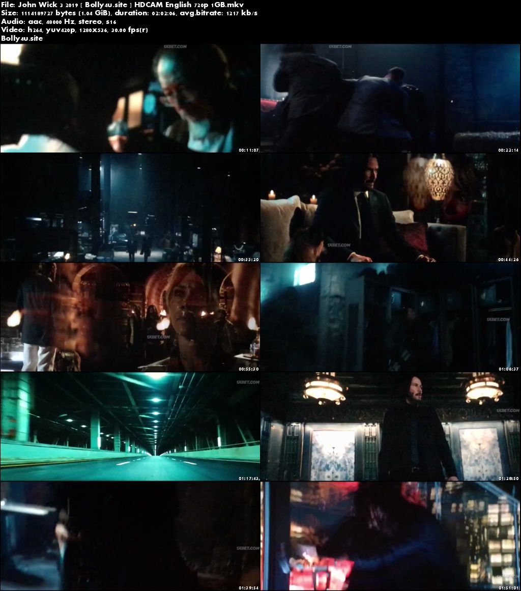 John Wick Chapter 3 Parabellum 2019 HDCAM 350Mb English 480p Download