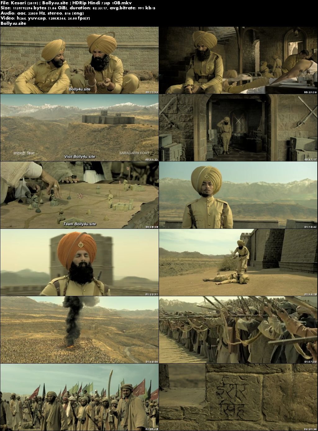 Kesari 2019 HDRip 450MB Full Hindi Movie Download 480p