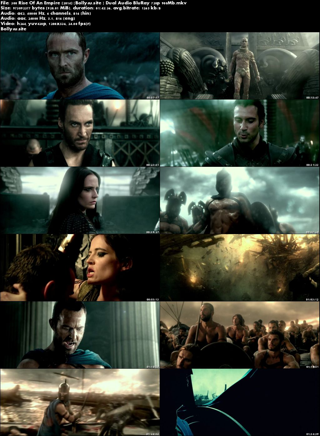 300 Rise Of An Empire 2014 BluRay 900MB Hindi Dual Audio 720p Download