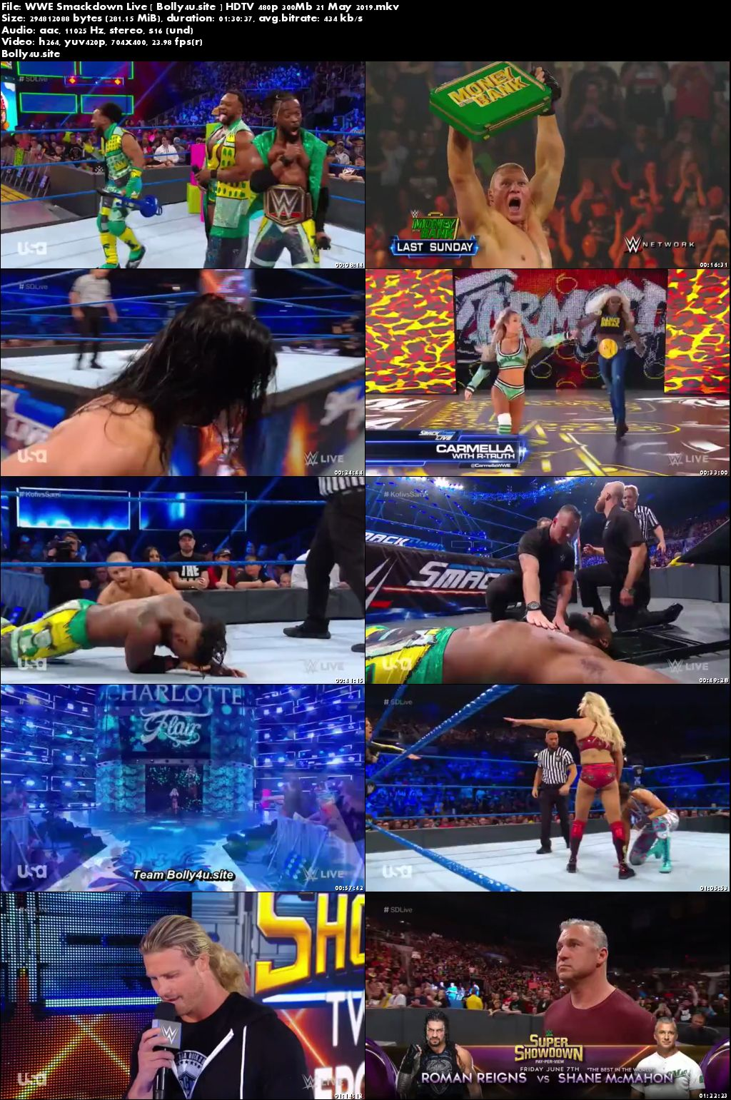 WWE Smackdown Live HDTV 480p 300Mb 21 May 2019 Download