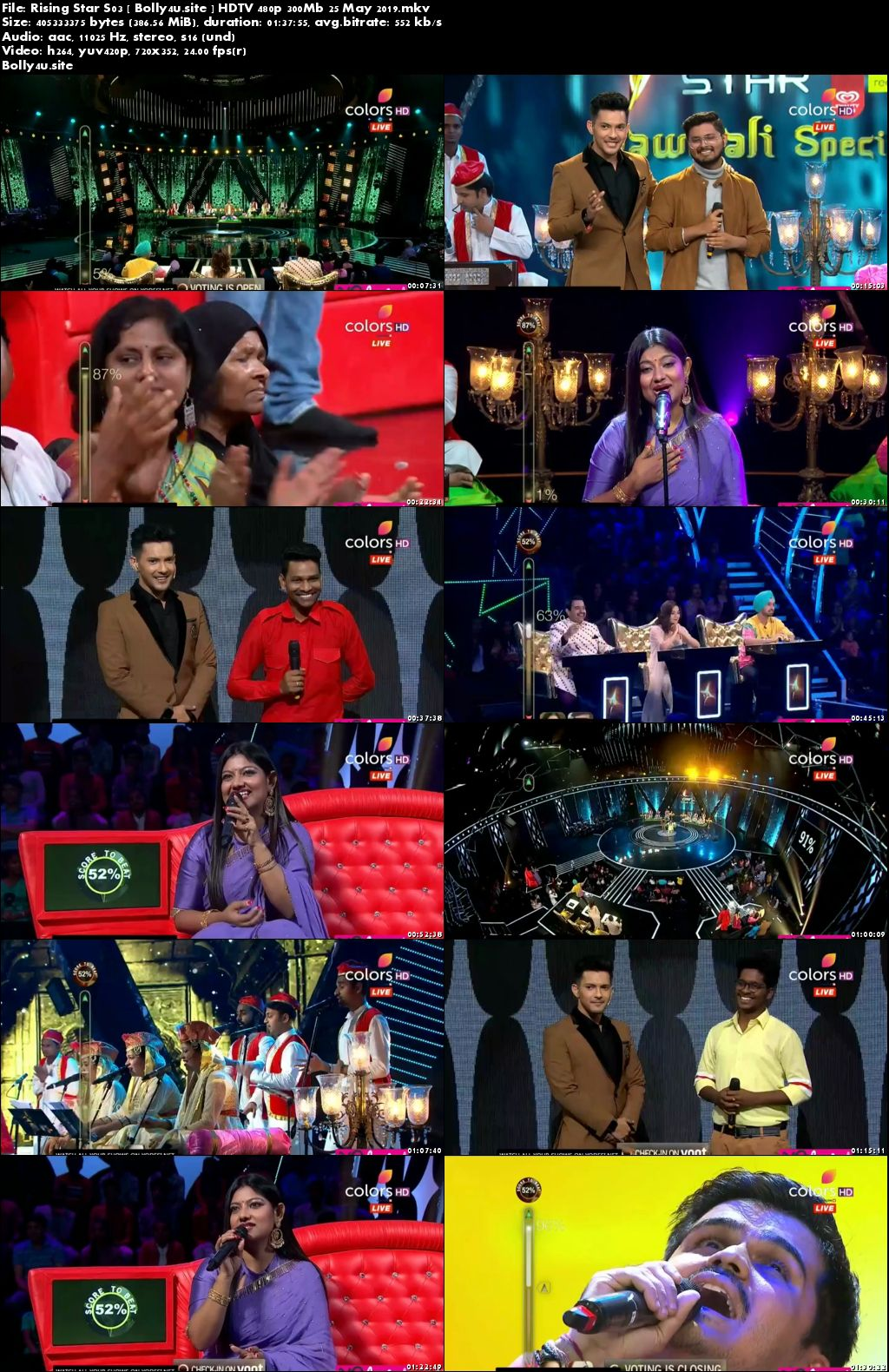 Rising Star S03 HDTV 480p 300Mb 25 May 2019 Download