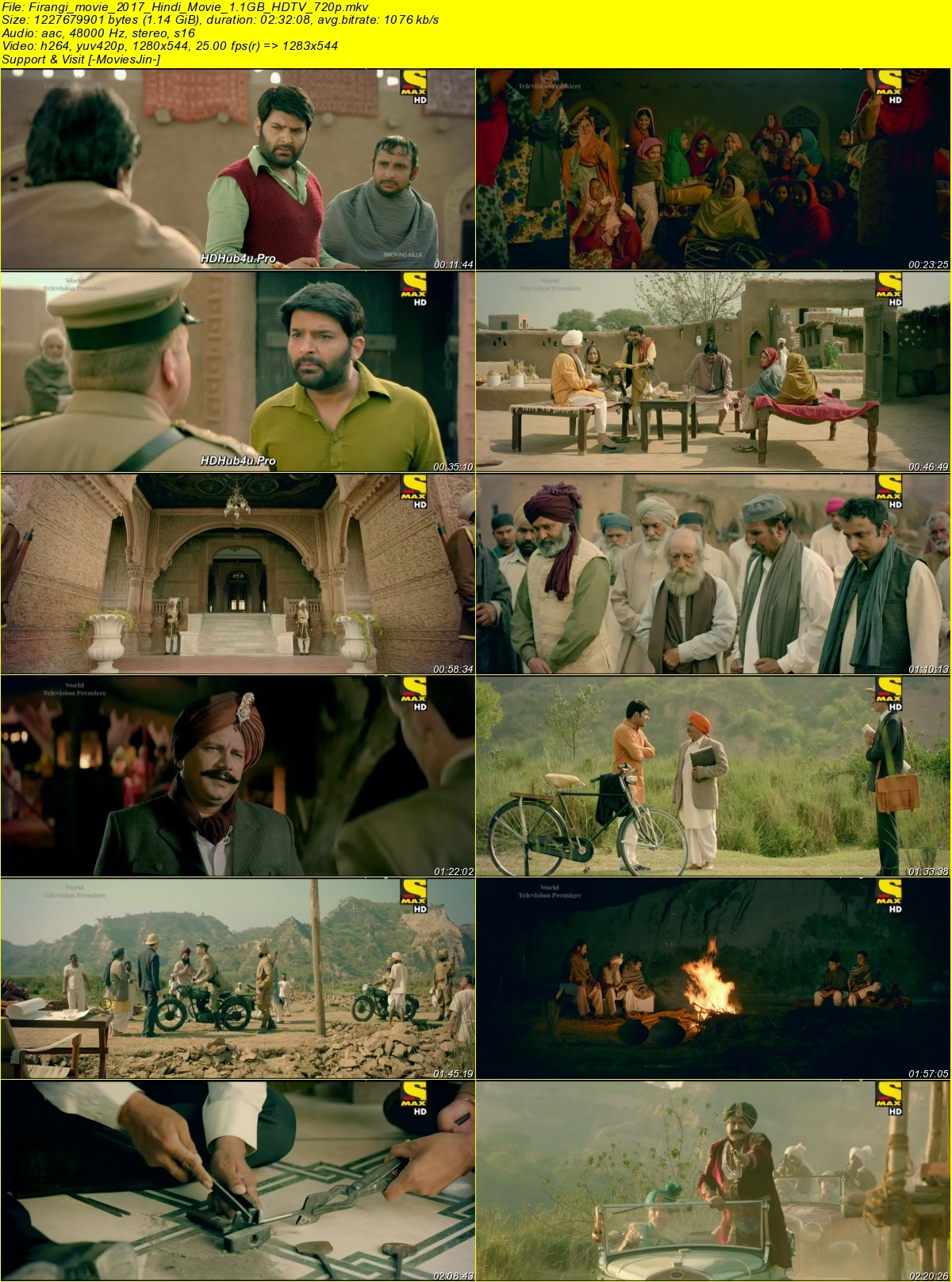 Watch Online Firangi 2017 Full Movie Hindi 1.1GB HDTV 720p Full Movie Download 8xfilms, 9xmovies, hdhub4u