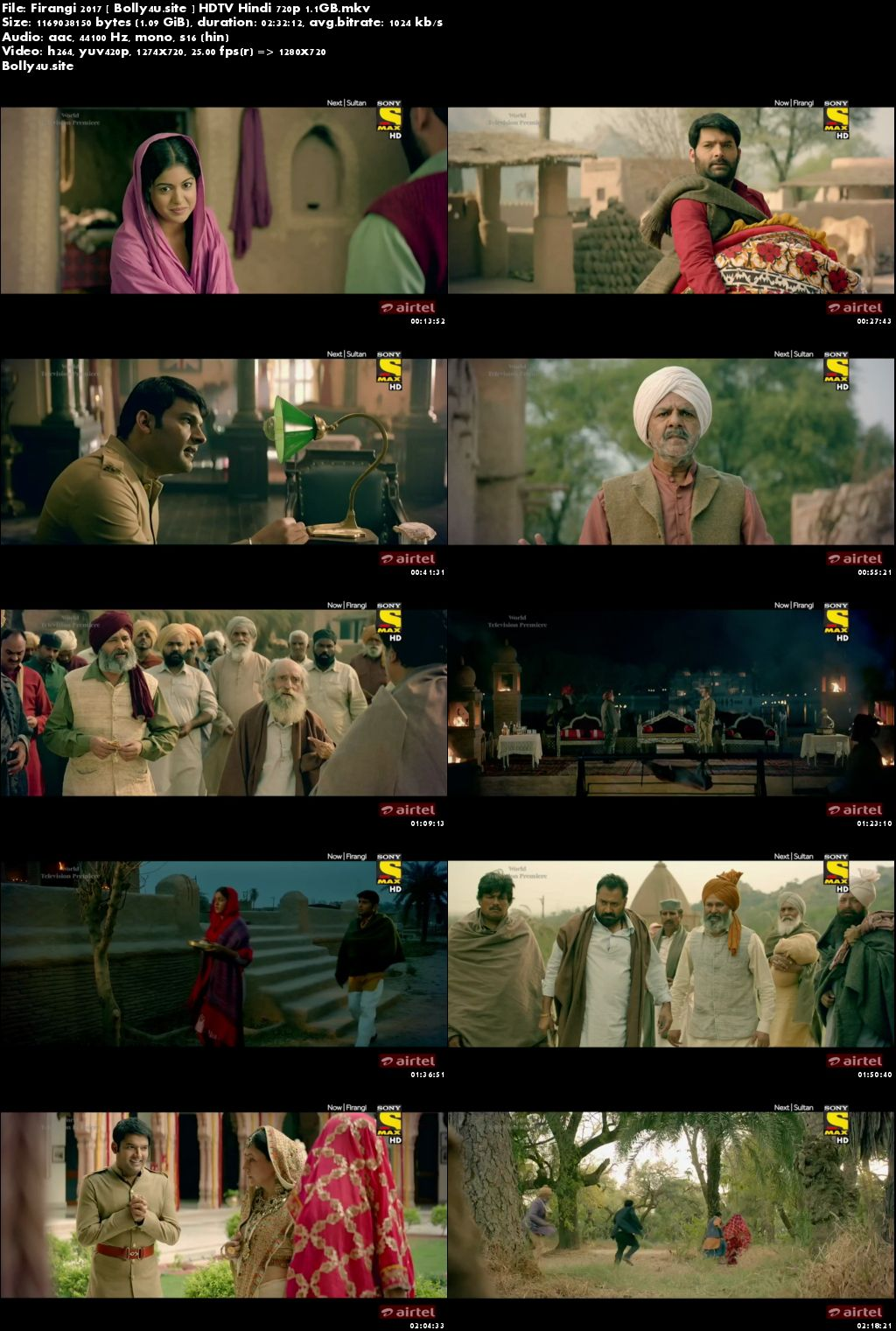 Firangi 2017 HDTV 1.1GB Hindi 720p Download