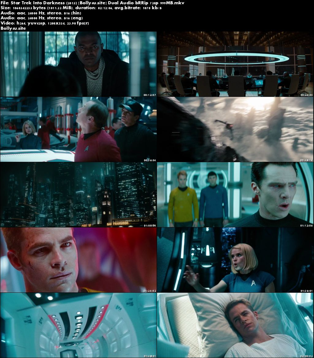 Star Trek Into Darkness 2013 BRRip 400MB Hindi Dual Audio ORG 480p Download