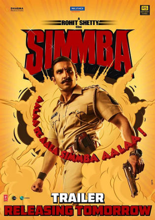Simmba 2018 BRRip 500MB Hindi 480p ESub