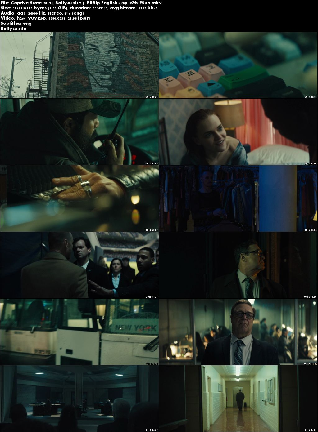 Captive State 2019 BRRip 1GB English 720p ESub Download