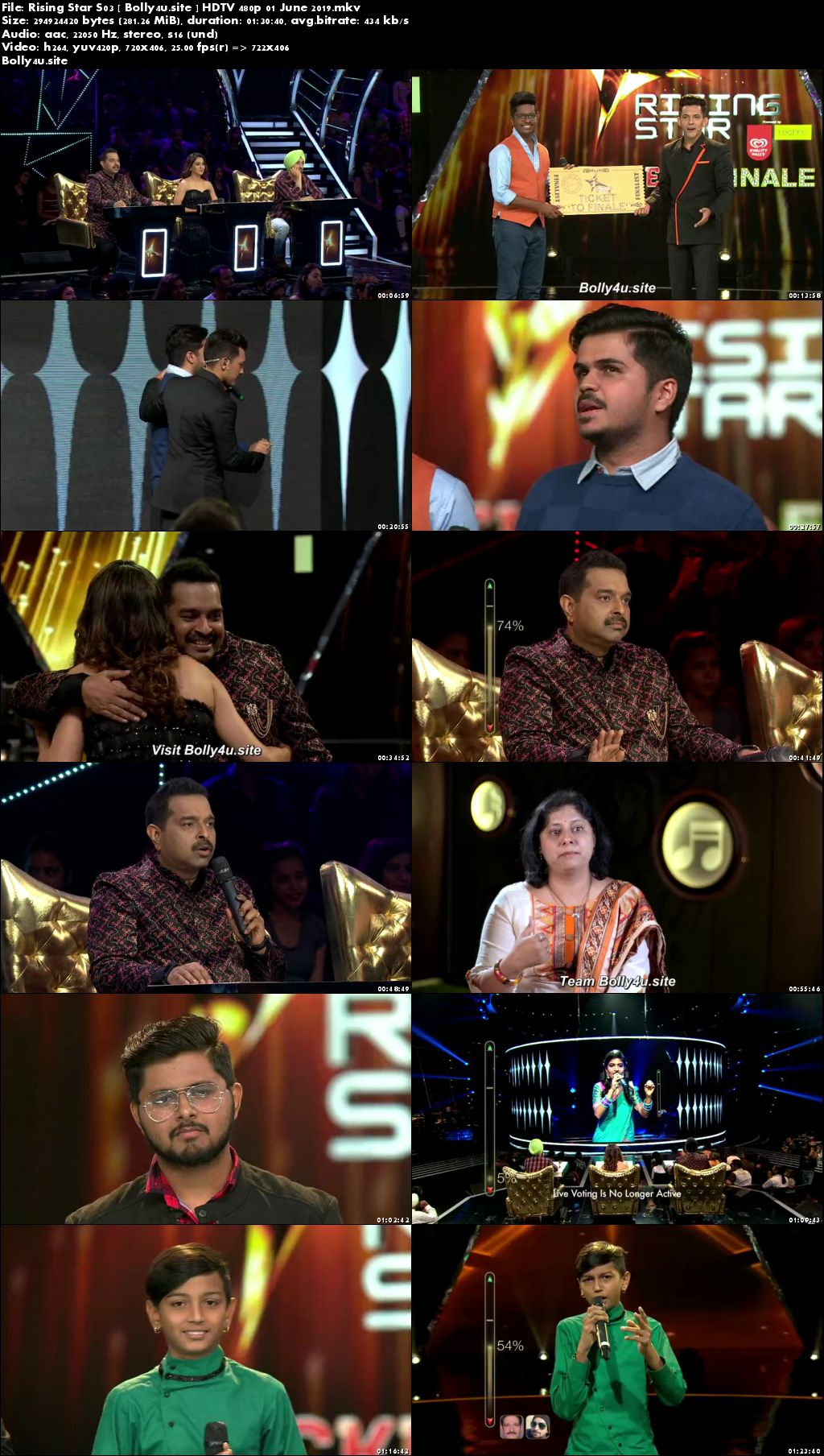 Rising Star S03 HDTV 480p 300MB 01 June 2019 Download