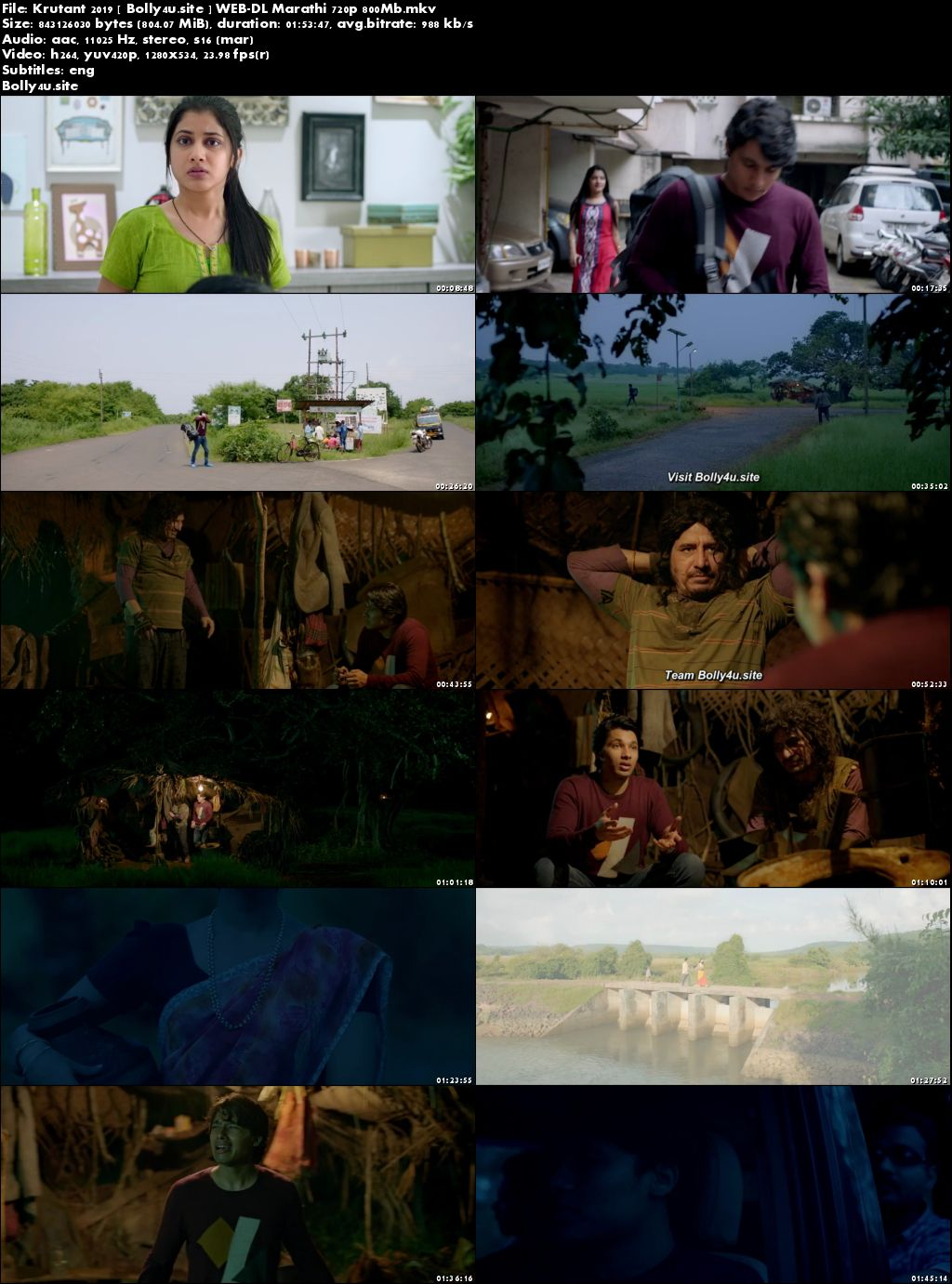 Krutant 2019 WEB-DL 800MB Marathi 720p ESub Download