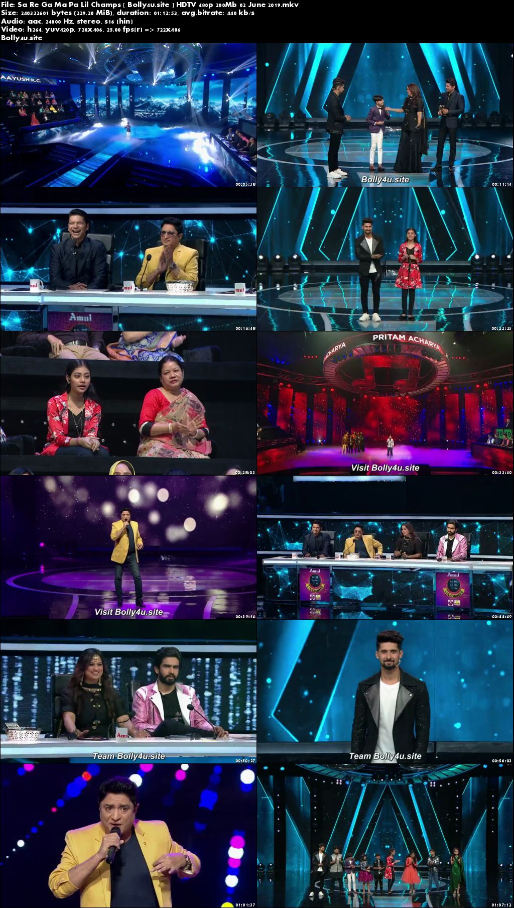 Sa Re Ga Ma Pa Lil Champs HDTV 480p 200Mb 02 June 2019 Download