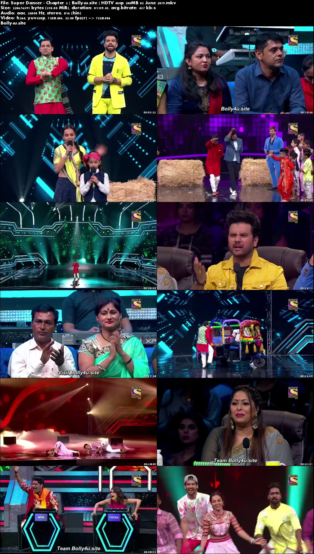 Super Dancer Chapter 3 HDTV 480p 200MB 02 June 2019 Download