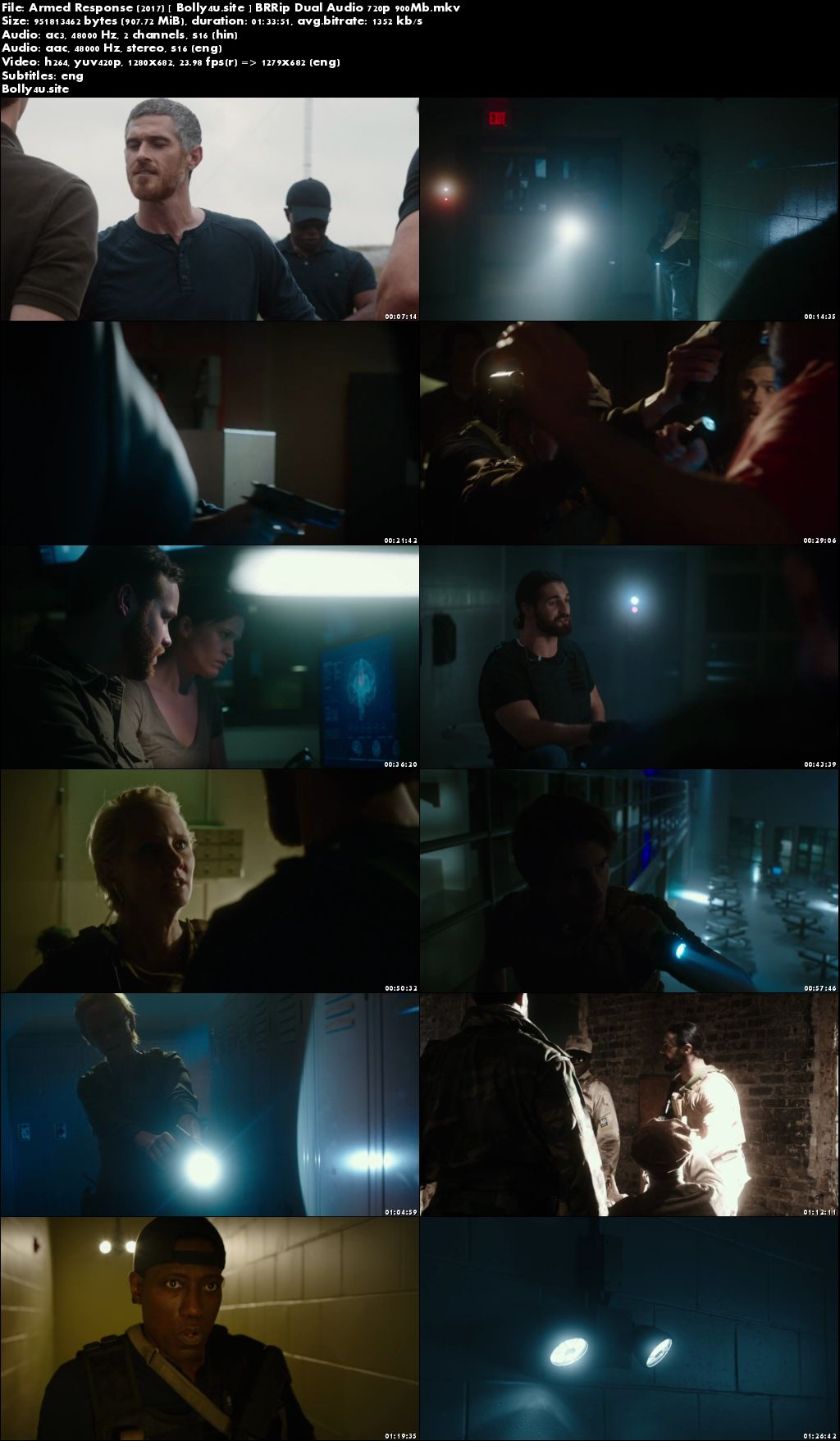 Armed Response 2017 BRRip 900MB Hindi Dual Audio 720p ESub Download