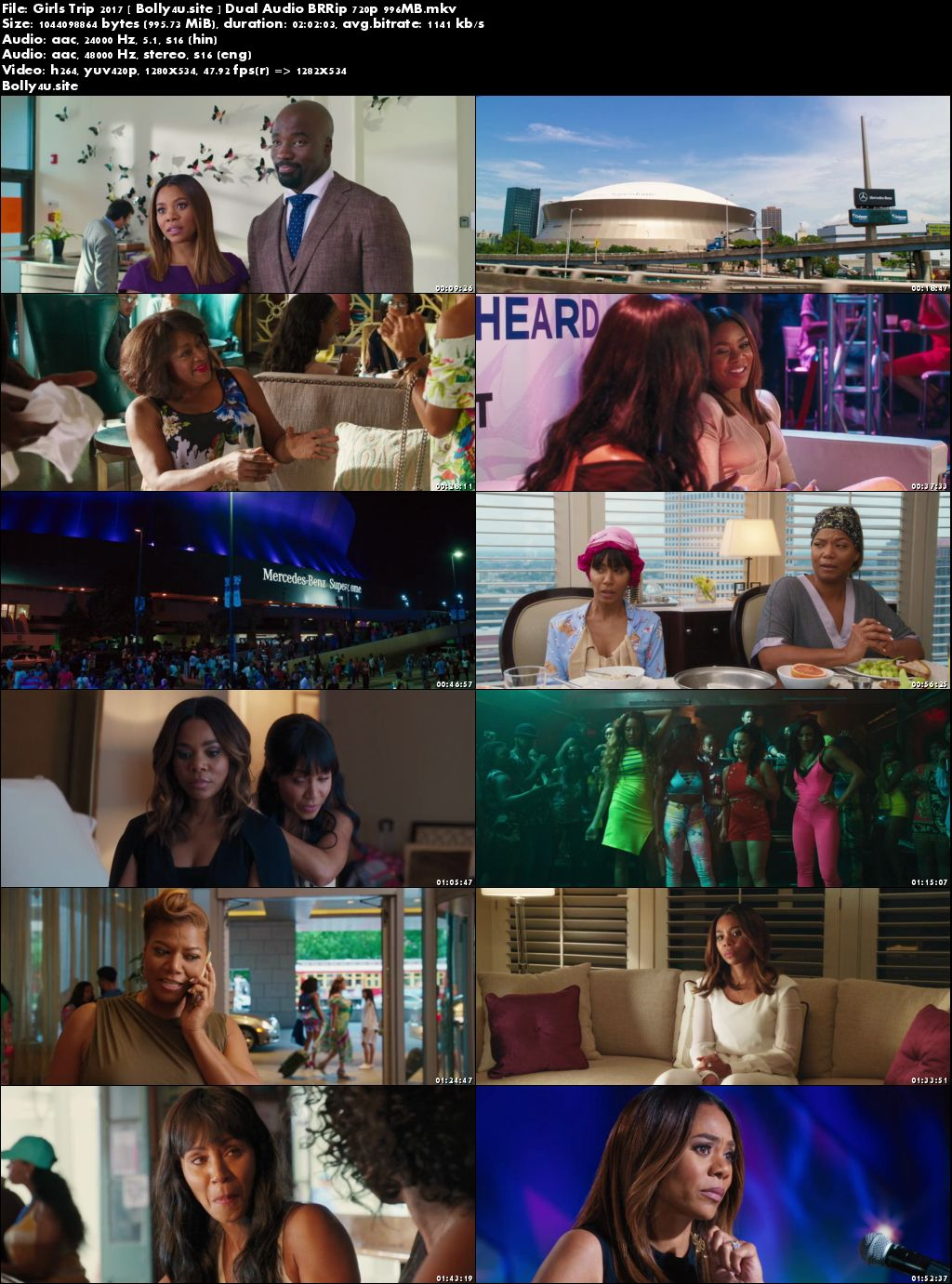 Girls Trip 2017 BRRip 350MB Hindi Dual Audio 480p Download