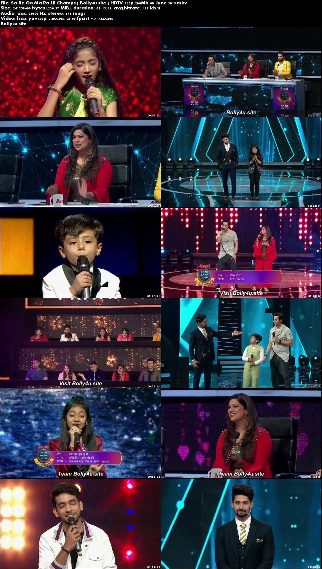 Sa Re Ga Ma Pa Lil Champs HDTV 480p 200Mb 08 June 2019 Download